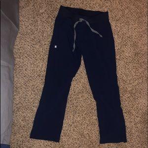 XSm kade figs scrub pants navy blue color
